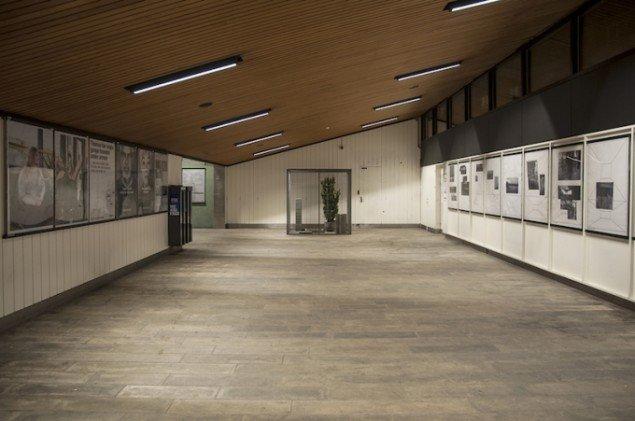 Installationsview fra Delvist tribal, 2015, Sydhavn Station. Foto: Peter Olsen