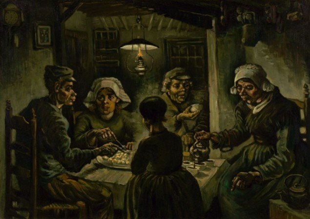 Vincent Van Gogh: Kartoffelspiserne, 1885. Van Gogh Museum.