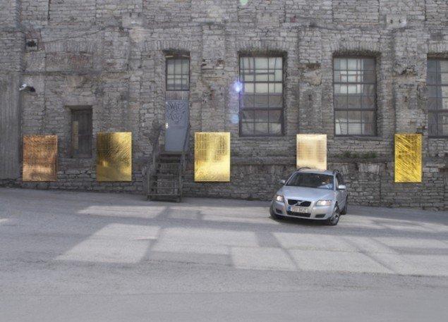 Brand New Paintings Caught in the Headlights of Parking Cars, 2013, Tallinn Tuesdays, Tallinn. Foto: Mikkel Carl