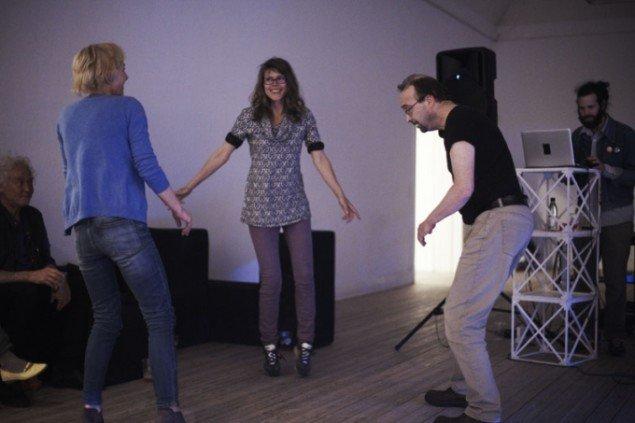 Will Owen og Matthias Hvass Borello spillede op til dans til Art Weekend Aarhus´ åbningsfest. Foto: Miau Miau Factory