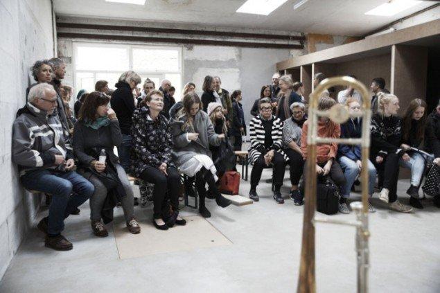 Publikum til performance på BITPOPOP. Foto: Miau Miau Factory