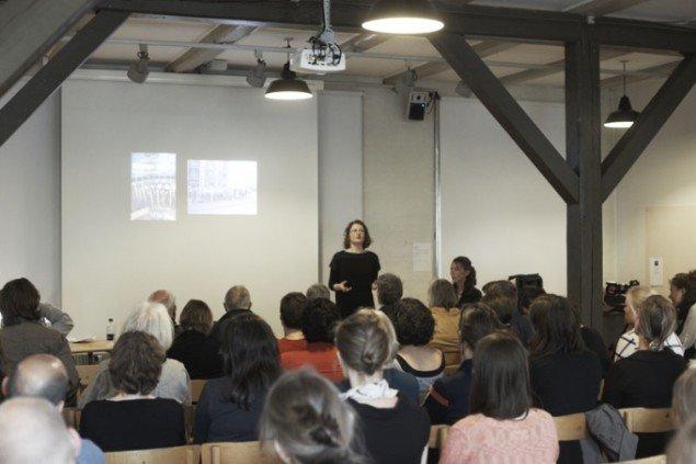 Rikke Hansen på paneldiskussionen. Foto: Miau Miau Factory