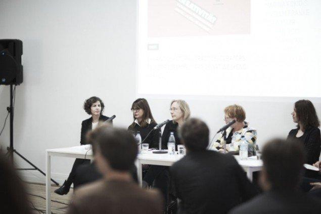Paneldeltagerne var fra venstre Chen Tamir, Marina Fokidis,  Peggy Sue Amison, Pirkko Siitari, Lauren Reid....