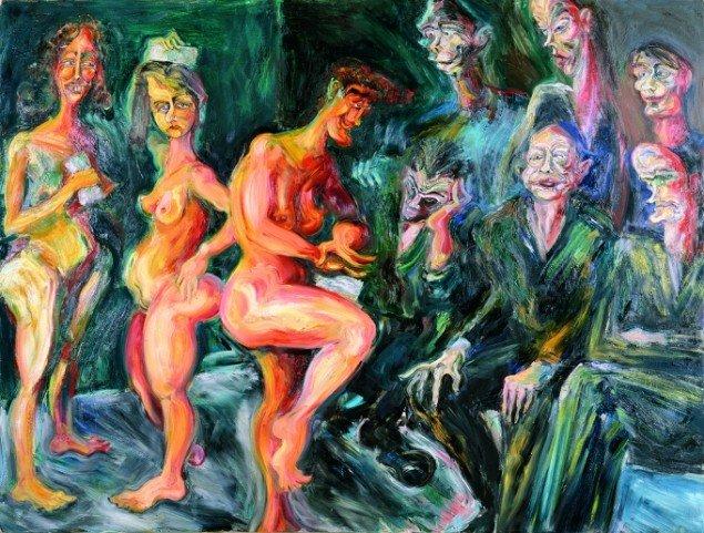 De Tre Gratier, 130 x 200 cm, olie på lærred, 1985. Tilhører: Statens Museum for Kunst. Foto: Søren Kiekegaard