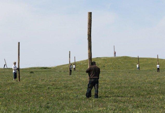Fra Boris Oichermanns performance Embodied Landscapes, Reenacted. Foto: Morten Barker