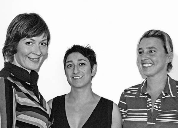 De 3 kuratorer bag U-TURN: Solvej Helweg Ovesen, Judith Schwarzbart og Charlotte Brandt