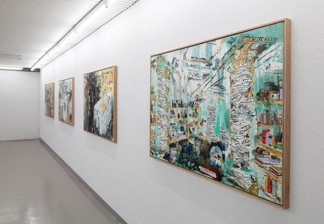 Installationsview fra udstillingen Vakuum, 2014, Galleri Tom Christoffersen. (Foto: Anders Sune Berg)