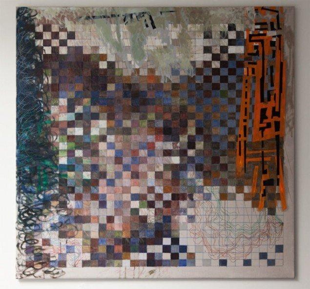 Max Parylewicz: Overvejende blue squares. Foto: Else Ploug Isaksen