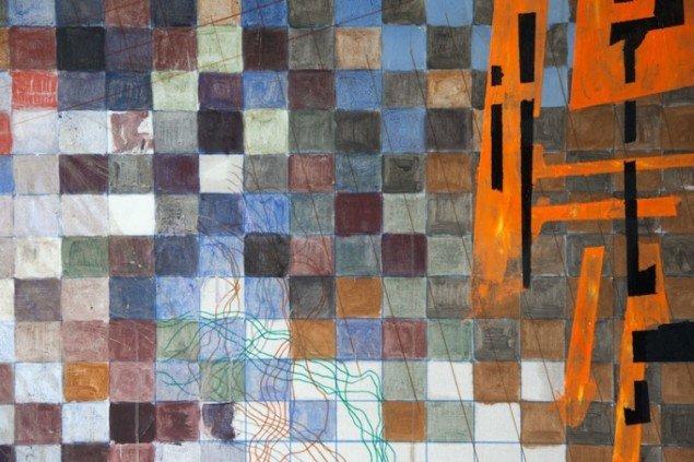 Max Parylewicz: Overvejende blue squares, detalje. Foto: Else Ploug Isaksen