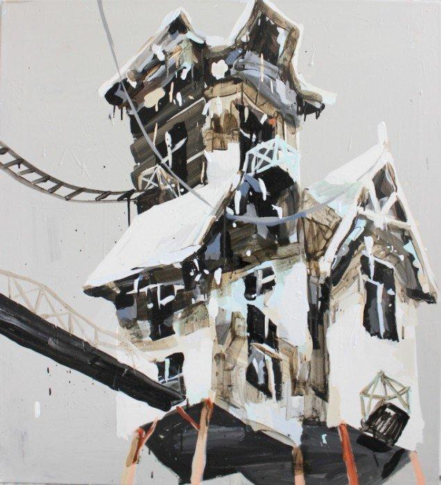 Et af Mie Olises værker på udstillingen Playgrounds, 2015. Foto: Det Ny Kastet