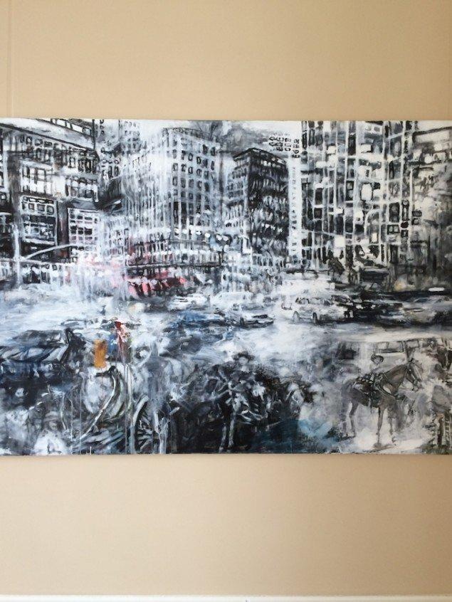 Et af Anders Moseholms værker på udstillingen. Foto: Det Ny Kastet