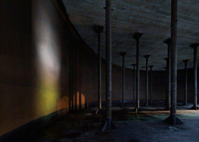 Søjlehal, underjordisk tank, 2014
