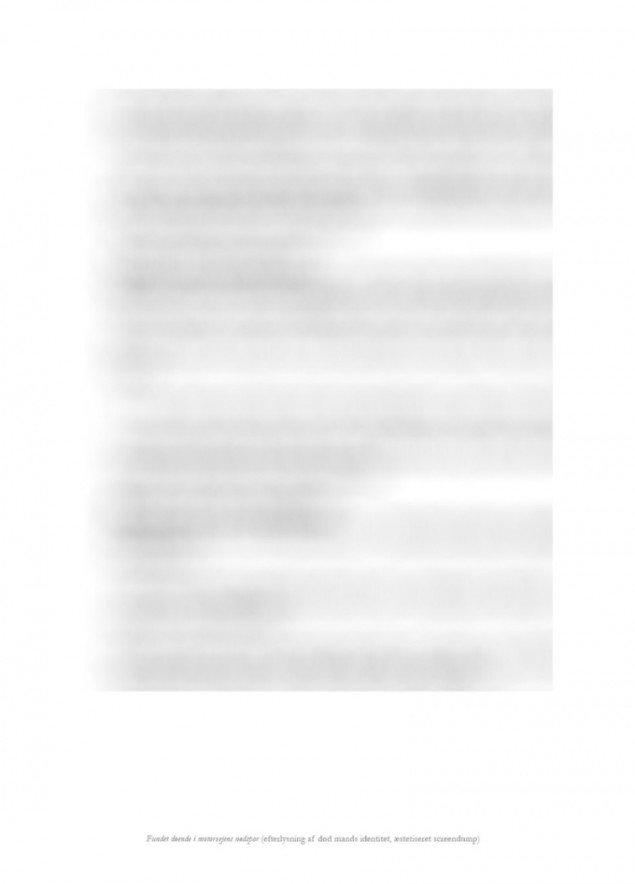 Detalje af Fundet døende i motorvejens nødspor etc. Efterlysning af død mands identitet.