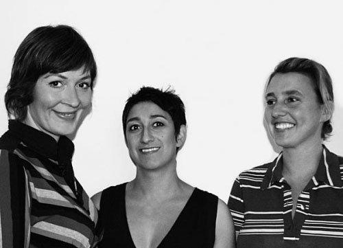 Kuratorene bag U-TURN; Solvej Helweg Ovesen, Judith Schwarzbart og Charlotte Bagger Brandt. Pressefoto