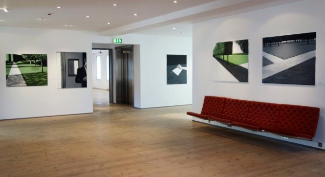 Maria Wandel: Parks & Hotel Rooms. Udstillingsview. Foto: Maria Wandel