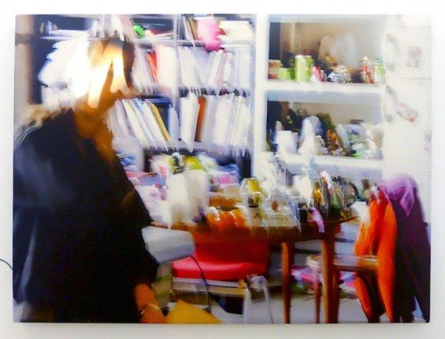 Digger Scavatrice, 2015. Stillfotografi. Digital print på silke, træramme, LED, Arduino. Foto: Gro Sarauw
