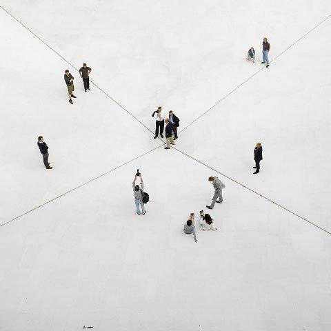 Bruce Nauman: Square Depression, Skulptur Projekte Münster, 2007. LWL-Landesmuseum für Kunst und Kulturgeschichte. Foto: Roman Mensing, Artdoc.de