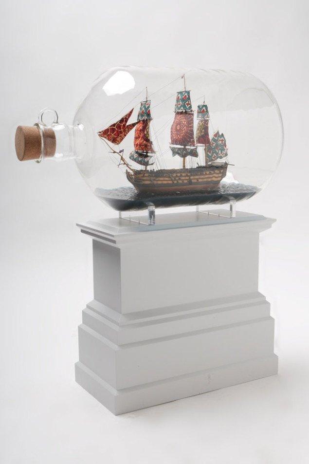 Yinka Shonibare: Nelson's Ship in a Bottle, Fourth Plinth, 2007. Foto: James O Jenkins