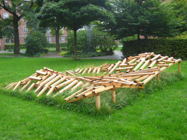 Dobbet landskab - en have før nedtagelsen. Foto: Pernille Rom Bruun