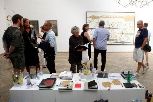 Flere af Nordens største gallerier var samlet på Charlottenborg til kunstmessen CHART Art Fair. Her to københavnske; Andersen's og Nils Stærk. Foto: Carsten Nordholt