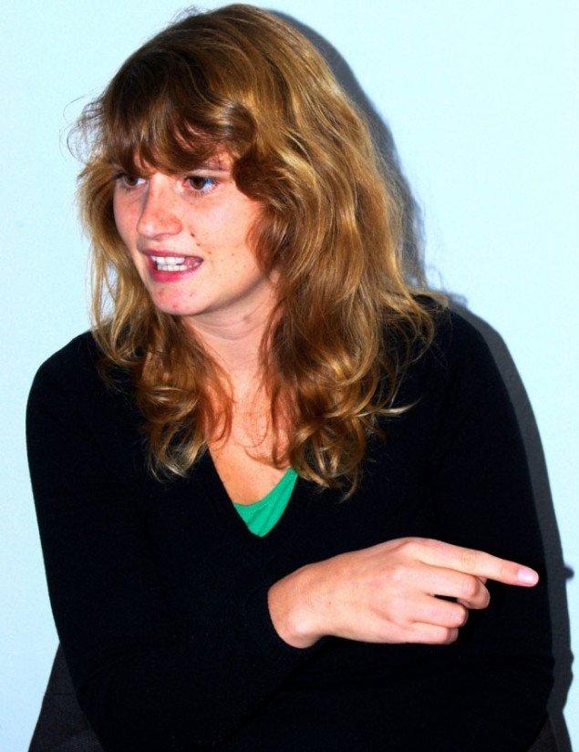 Maja Gade fortæller. Foto: Gitte Le