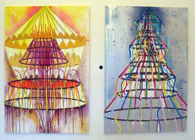 Nanna Starcks malerier er inspireret af Poul Gernes. Foto: Sidse Camilla Sørensen