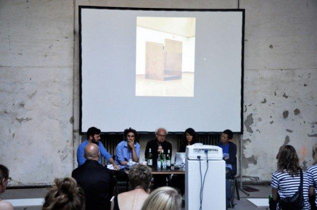Panelet under søndagens talk om kunst og globalitet. (Foto: Daniel Heydorn)