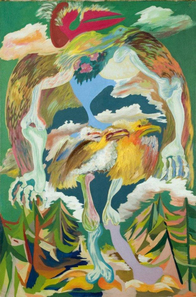 Grønne fugle, Richard Mortensen, 1940, Foto: Lars Bay