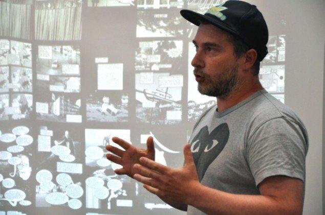 Artist talk ved Kristoffer Akselbo på DIAS Kunsthal (Foto: Rikke Sabrina Jensen)