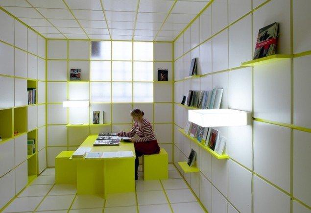 ReadingRoom, 2004. Fleksibelt rumforløb. Kirkhoff, København. Foto: Anders Sune Berg