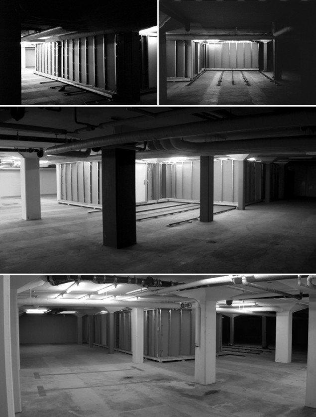 Possession, 2001. Motoriseret bevægelseslabyrint. Kælderen under VEGA, København. Foto: AVPD