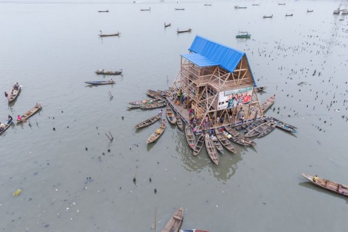NLÉ. Architects / Kunlé Adeyemi Makoko Floating School, Lagos, Nigeria (Foto: Iwan Baan)