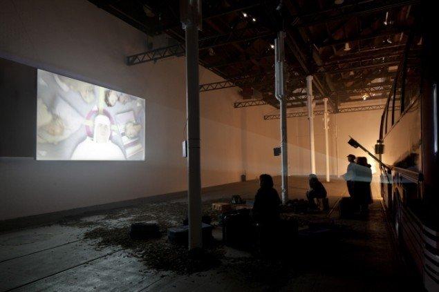 Installationsview fra Echt, Glasgow International, 2014.