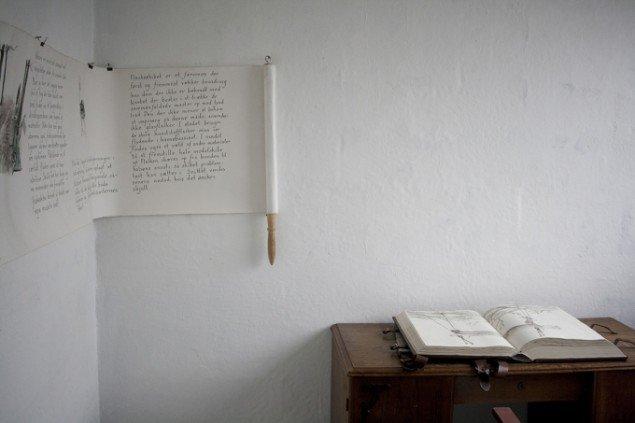Installationsview fra udstillingen Rebound, 2015, Læsø Kunsthal.  Foto: Jon Eirik Lundberg