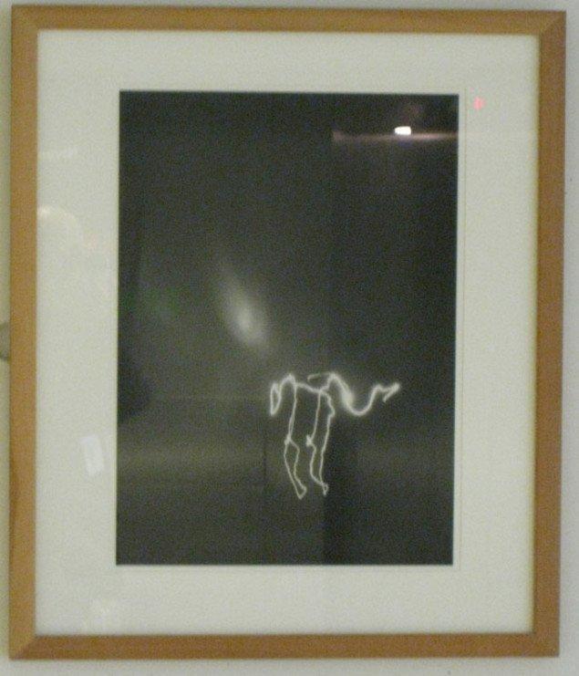 Første del af trappeintroduktionen til sanseligheden i Erik A. Frandsens kunst. Erik A. Frandsen, Undressing, 1996. Foto: Kasper Lie