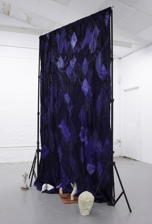 Installationsview af Fluid Circuit II fra udstillingen Stilleben, 2015, Ringsted Galleriet. Foto: Morten K. Jacobsen