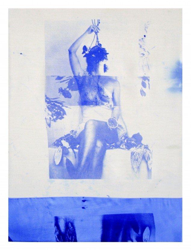 Augusta Atla, I AM LIFE, 2015. Silketryk. 45x50 cm.