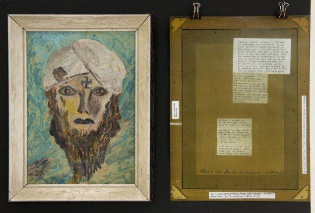 Henry Peder Riksted, Indisk selvmorder, o. 1937 (fra rummet Intime banaliteter). Foto: Torben E. Meyer