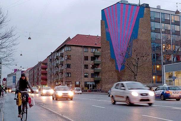 Galvudsmykning Pilen på Jagtvej/Tagensvej, 2012. Foto: JHS