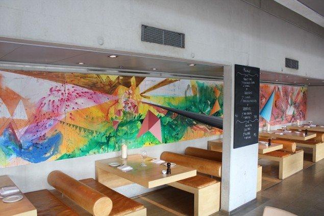 Udsmykning på restaurant Søren K, Den Sorte Diamant, 2011. Foto: JHS