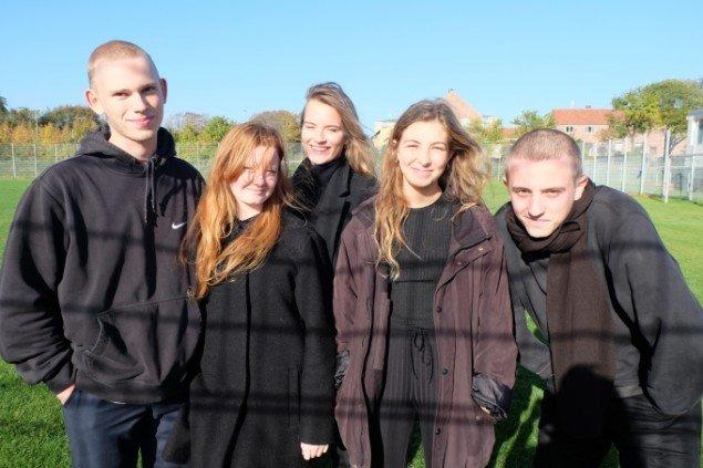 Eleverne Klint, Nanna, Clara og Sebastian. Foto: Elisabeth Hjortshøj Thostrup