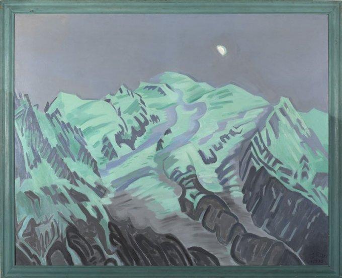 J. F. Willumsen: Sidste lysning på Mont Blanc. 1938, J.F. Willumsens Museum