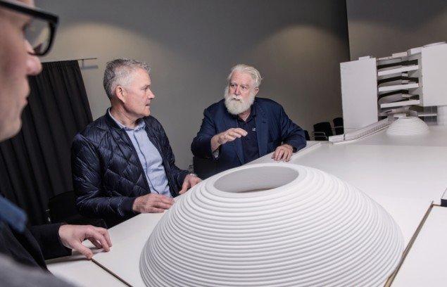 James Turrell og arkitekter fra schmidt hammer lassen diskuterer The Next Level. Foto: Morten Fauerby // Montgomery