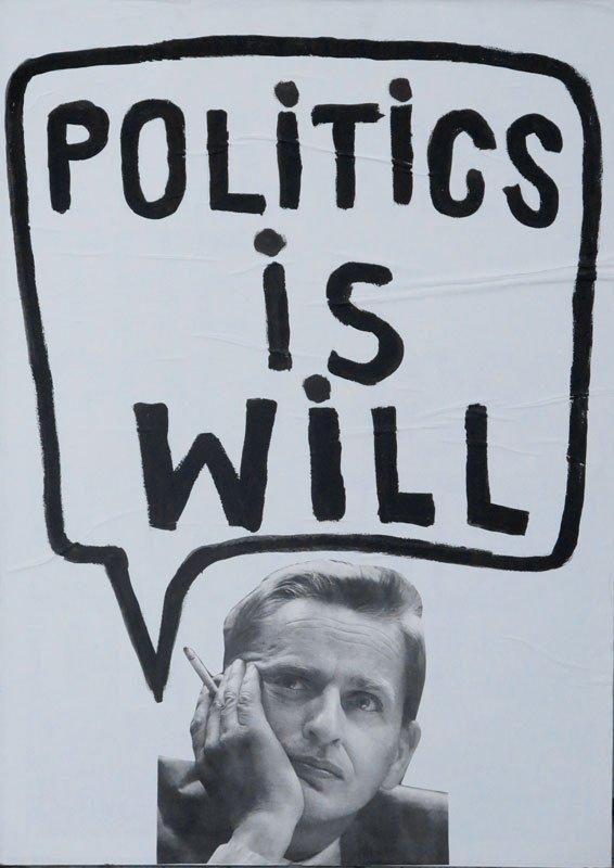 Valgplakat af Will Gurley & Jacob Fuglsang Mikkelsen. (Foto: Jacob Fuglsang Mikkelsen)