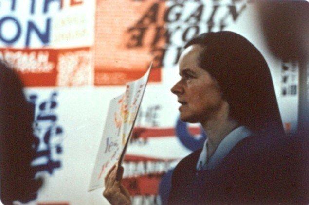 Corita Kent, 1968. Pressefoto