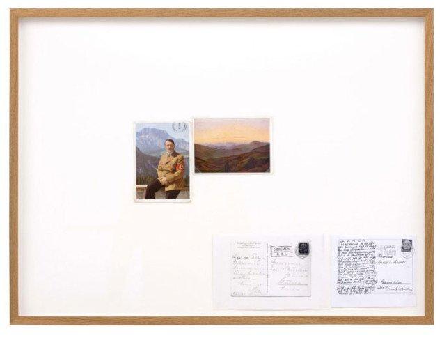 Ann Böttcher sammenligner nazismens og nationalromatikkens forhold til de tyske skove i Am Obersalzberg vor Sonnenaufgang (Der Umgang mit Mutter Grün), 2008, Foto: Gerhard Kassner