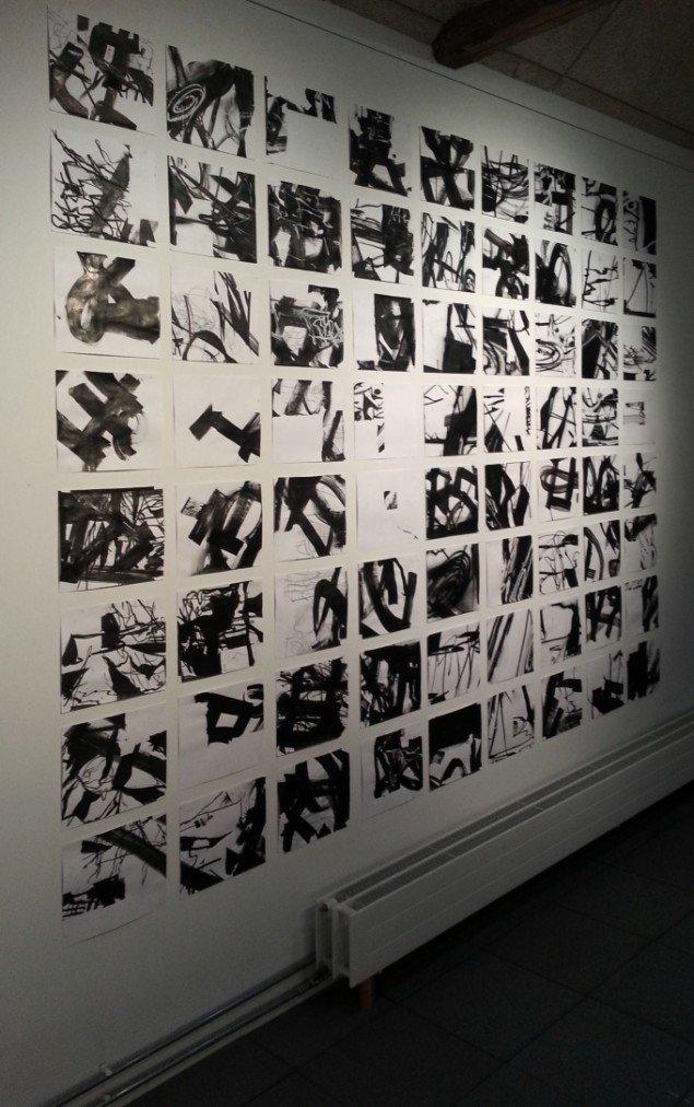 Anders Reventlov: Tecken 72 tusch tegninger. Foto: Ole Bak Jakobsen