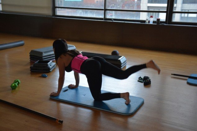 Amanda Alfieri: Little in the middle but she got much back. Workout og seminar. Foto: Søren Aagaard