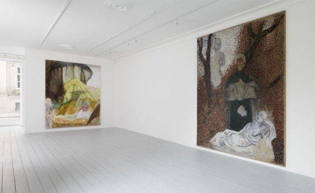 Installationsview fra Sergej Jensens soloudstilling hos Avlskarl i foråret 2014. Foto: Avlskarl Gallery