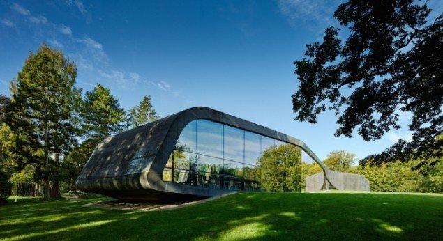 Ordrupgaards tilbygning er tegnet af Zaha Hadid, opført i 2005. Pressefoto